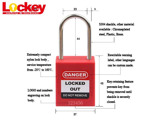 Dia. 4 S304 Shackle Padlock P44SD4