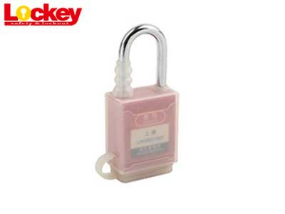 Transparent Rubber covered dustproof safety padlock