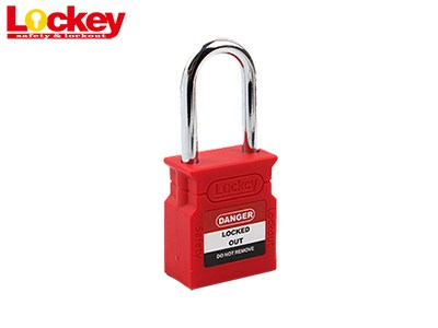 38mm Steel Shackle Padlock P38S-RED