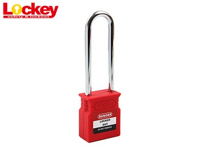 76mm Steel Shackle Padlock P76S-RED