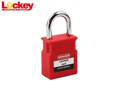25mm Steel Shackle Padlock P25S-RED