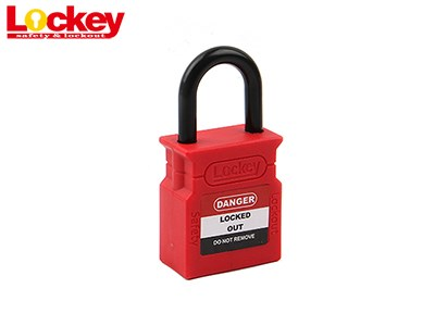 25mm Plastic Shackle Padlock -CP25P-RED